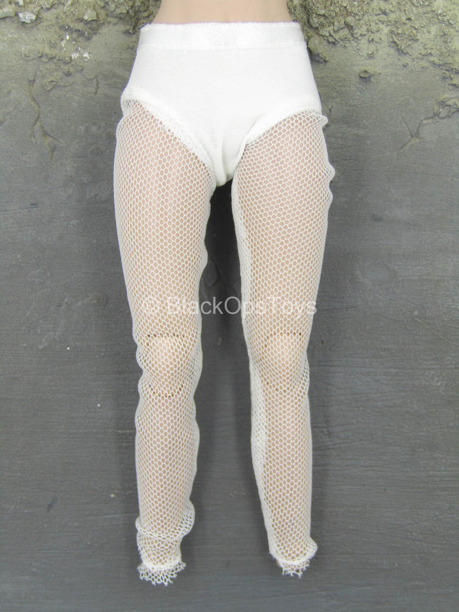 Kisaragi Honey - White Fishnet Leggings