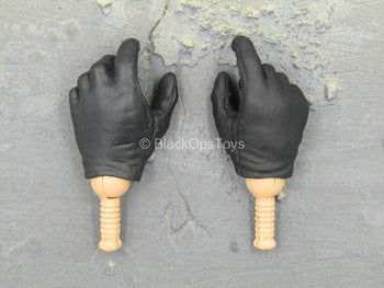 GI JOE - Cobra Ninja Viper - Black Gloved Hand Set (x2)