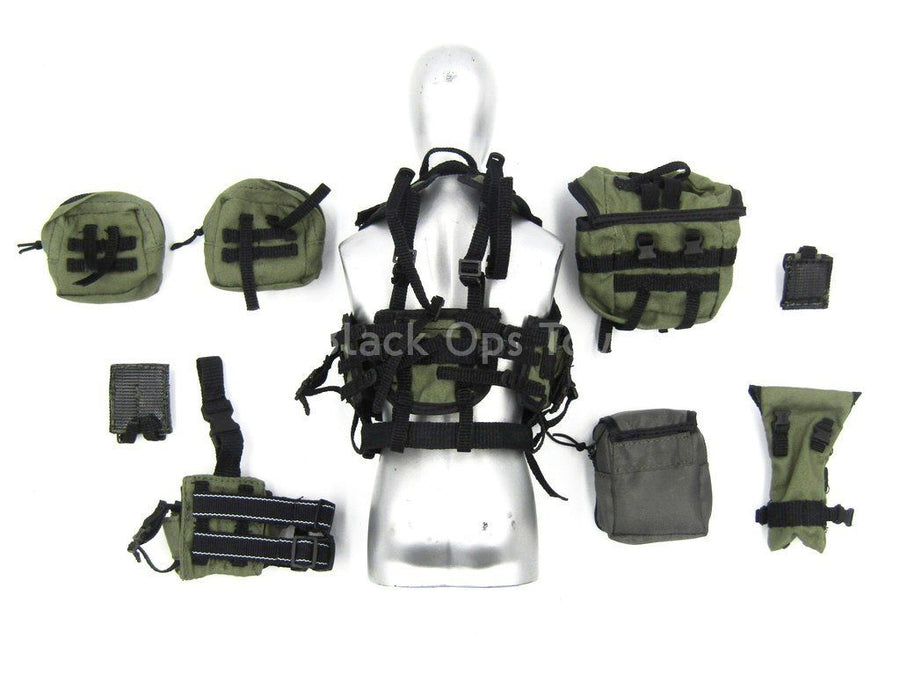 U.S. Navy Seal HALO Jumper - OD Green Vest & Pouch Set