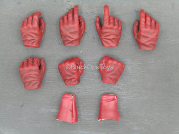 Captain America - Star Spangled Man - Red Gloved Hand Set w/Bracers