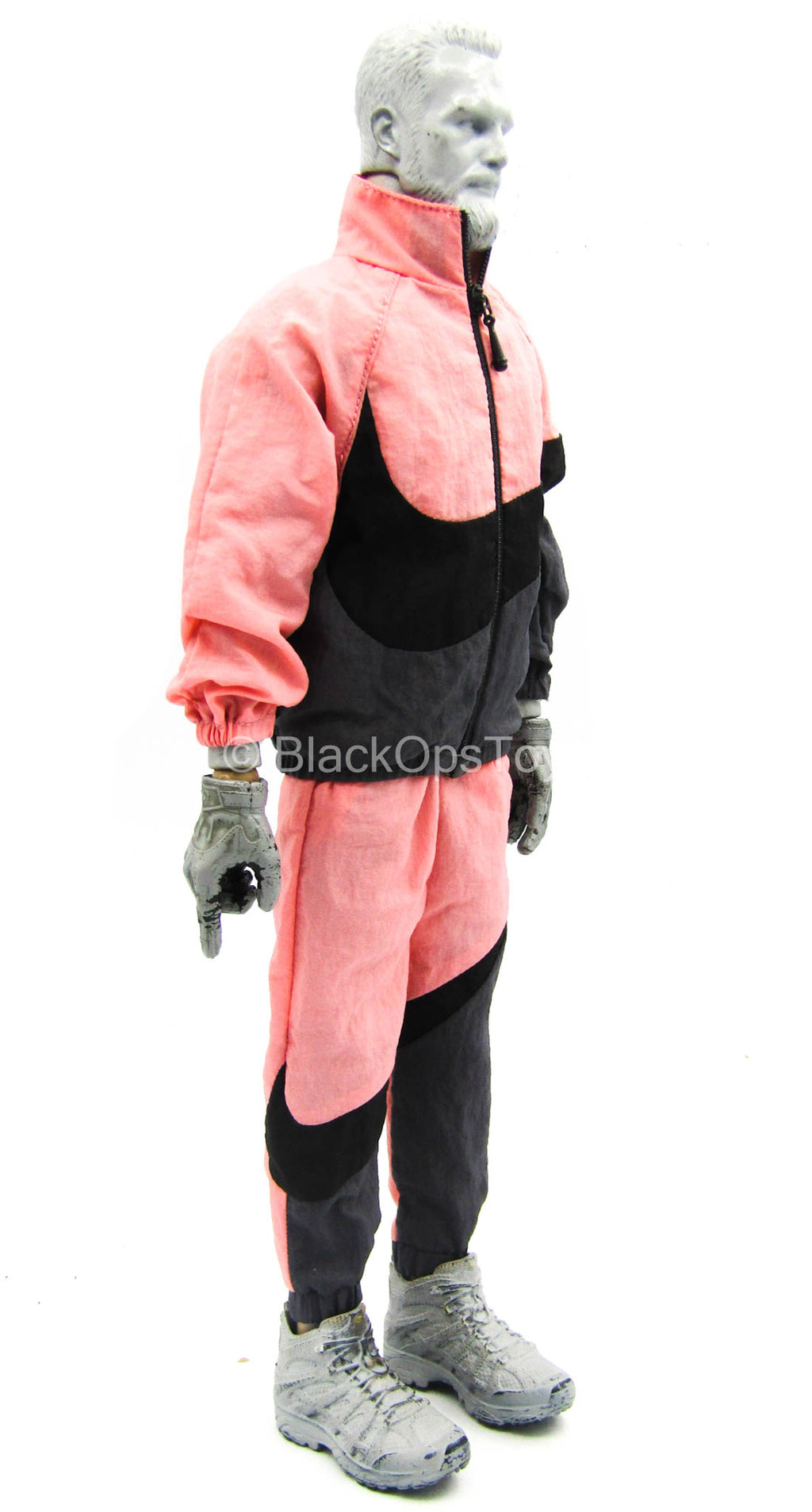 Big Swoosh Fashion Sports Set - Pink & Black Jacket & Pants