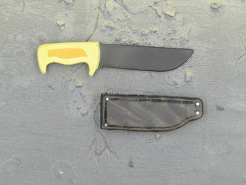 T-GORE - Yellow Handle Combat Knife w/Sheath