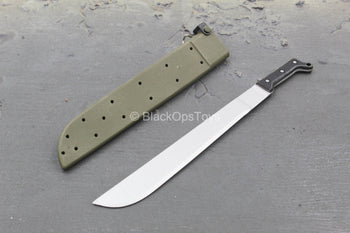 M60 Shorty Machine Gunner - Machete w/Green Sheath
