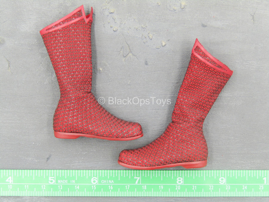 Red Boots w/Chain Detail (Peg Type)