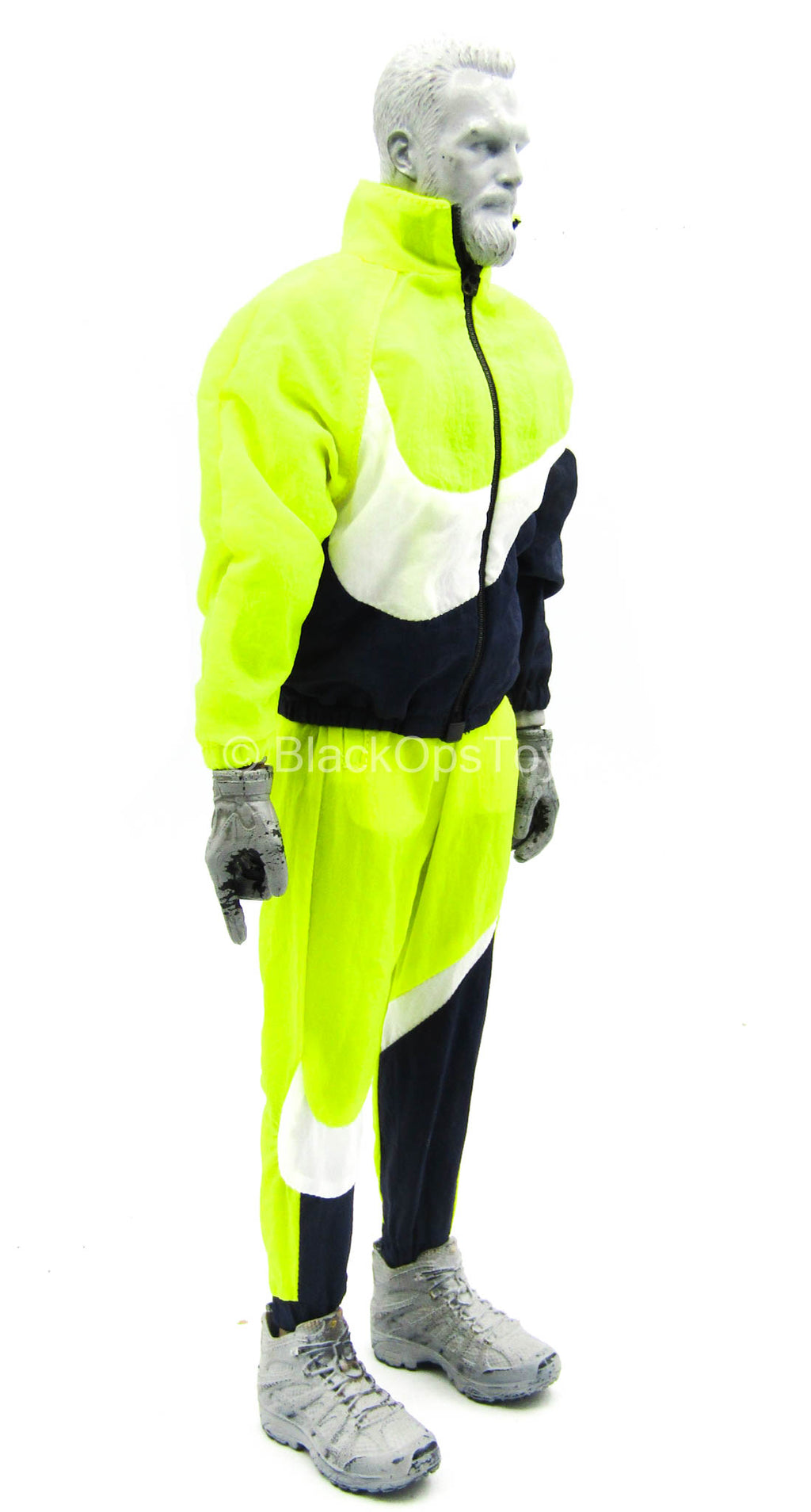 Big Swoosh Fashion Sports Set - Black, Yellow, & White Jacket & Pants