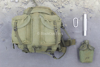 M60 Shorty Machine Gunner -  OD Green Arvn Backpack w/Gear Set