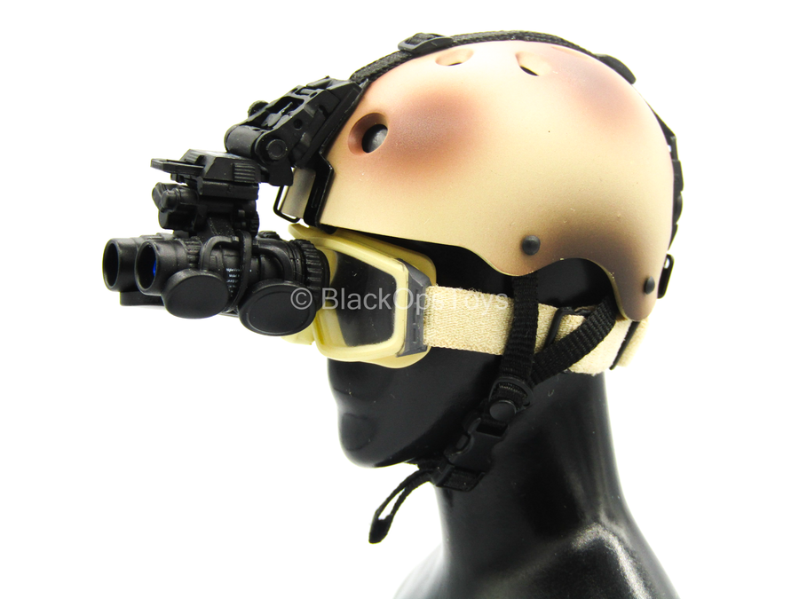 1//6 Scale Toy operation mer Ailes-Tan /& Brown Casque avec NVG /& Lunettes