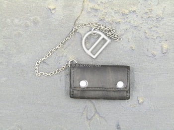 T-GORE - Black Leather Like Wallet w/Wallet Chain