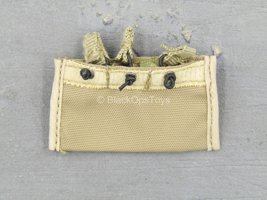 Tan Triple Fast Mag Release Pouch