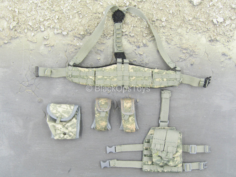 ACU Padded MOLLE Belt w/Pouch Set