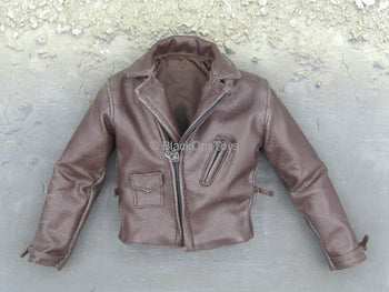 Captain America (Rescue) - Brown Leather Like Jacket