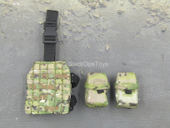 Phantom - Multicam MOLLE Drop Leg Panel w/Multipurpose Pouches