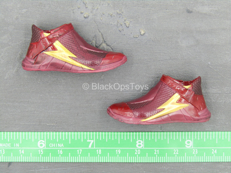 Justice League - The Flash - Red & Gold Boots (Peg Type)