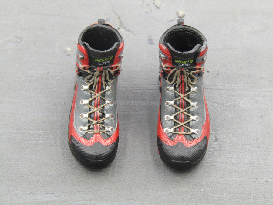 Battle Girl - Red & Black Gloved Female Tactical Shoes (Peg Type)