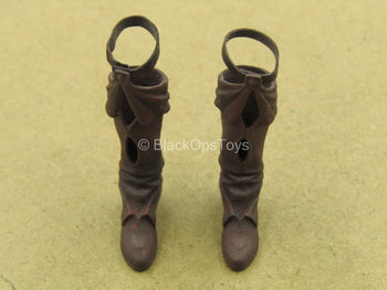 1/12 - Red Sonja - Female Bloody Brown Boots (Peg Type)