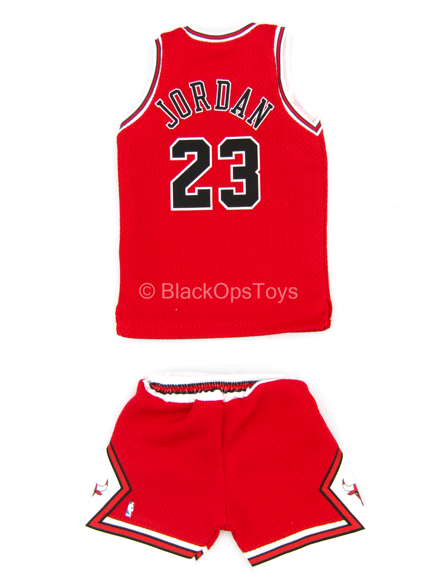 "Michael Jordan - ""Chicago Bulls"" Red Jersey & Shorts (Type 1)"