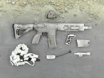Navy Seal - Winter Camo AR w/White Sling