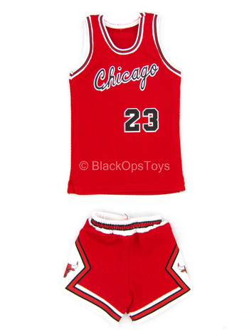 "Michael Jordan - ""Chicago Bulls"" Red Jersey & Shorts (Type 2)"
