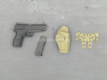 British Army - Afghanistan - P226 Pistol w/Tan Holster