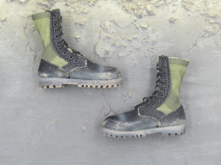FOOTWEAR - OD Green Combat Boots (Foot Type)