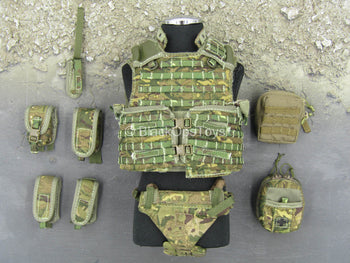 British Army - Afghanistan - MTP Camo Plate Carrier & Pouch Set