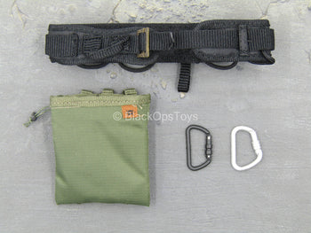 LAPD SWAT - Black Padded Belt w/OD Green Dump Pouch