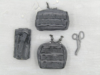 LAPD SWAT - Black MOLLE IFAK, MP, Radio Pouch Set