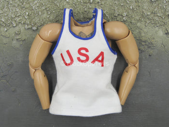 Olympic - Mike Tyson - White USA Tank Top