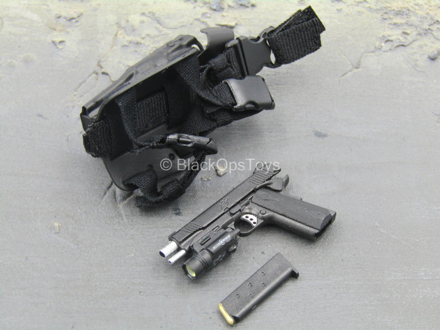 LAPD SWAT - 1911 Pistol w/Tac Light & Drop Leg Holster
