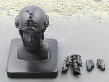 LAPD SWAT - Black Helmet w/NVG Set