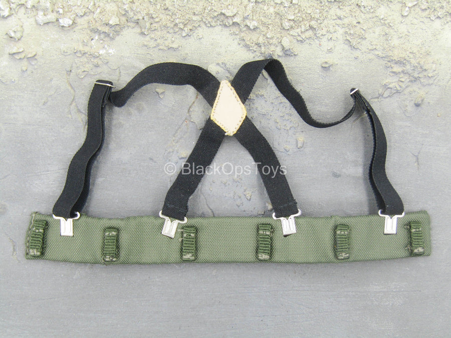 U.S. Navy Seal - OD Green Padded Belt w/Black Suspenders