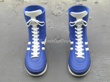 Olympic - Mike Tyson - Blue High Top Shoes (Peg Type)