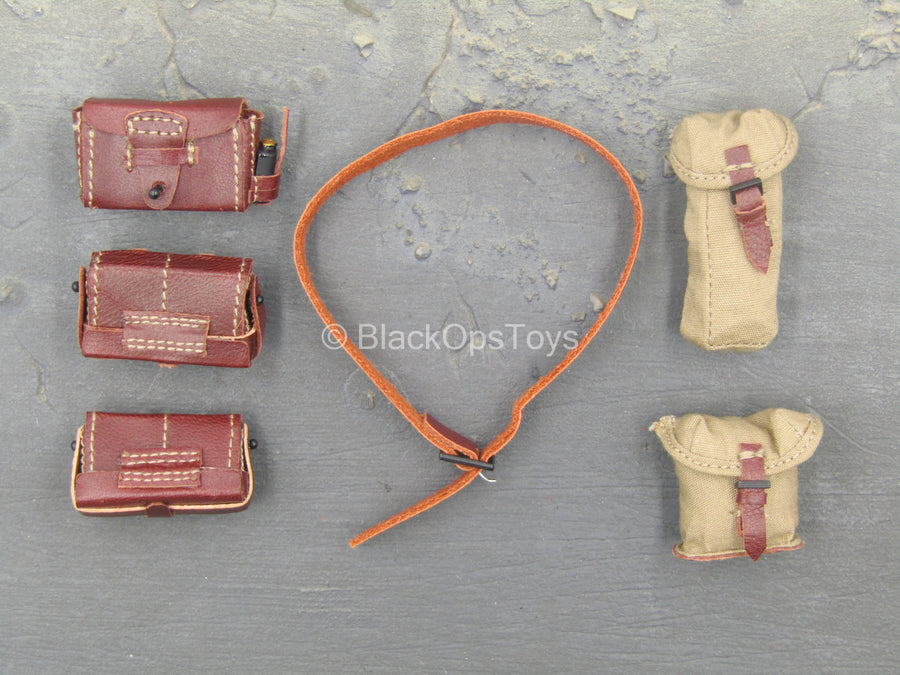 WWII - Battle of Tengchong - Brown Belt w/Pouch Set
