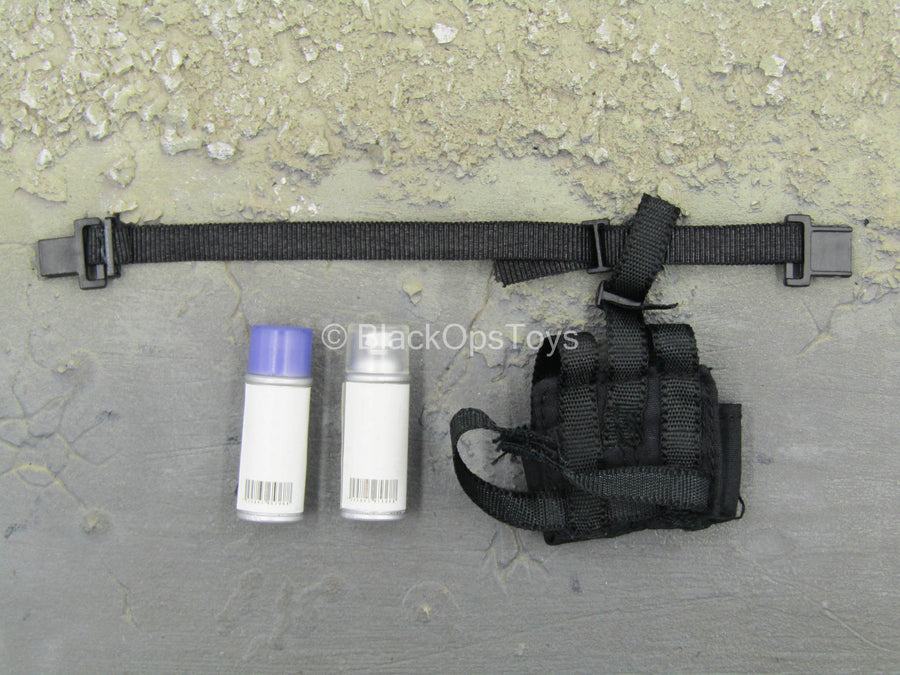 Recon - Spray Paint Cans w/Black Dual Cell Drop Leg Holster
