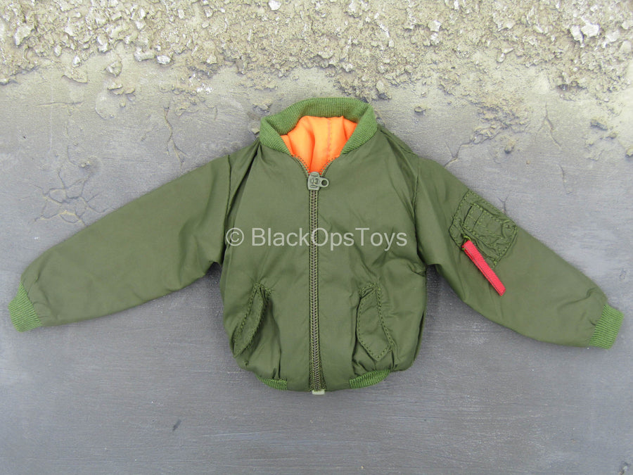 PMC - Urban Viking - Green Flight Jacket w/Viking Logo