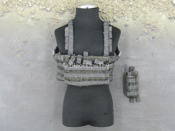 PMC - Urban Viking - Grey MOLLE Chest Rig w/Pouch