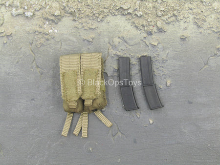 French Special Force - Tan MOLLE Magazine Pouch w/MP7 Mags