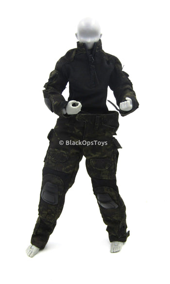 Battle Girl - Female Black Multi-Cam Camo Uniform Set