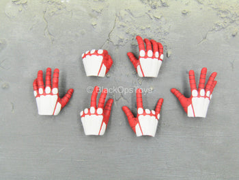 Spiderman - Advanced Suit - Red & White Gloved Hand Set (Type 2)