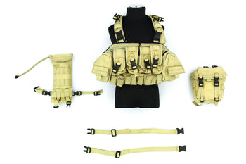 US Marine Gear Set - Tan Frog Chest Rig w/Pouch Set