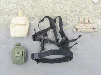 U.S. Navy Seal - Black Harness w/Pouch Set
