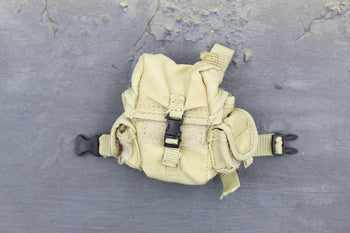 US Marine Gear Set - Tan Top Opening Gas Mask Thigh Rig