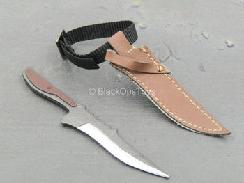 Redhead Denny - Knife w/Leather Like Sheath