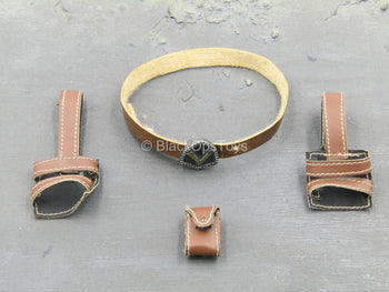 Redhead Denny - Leather Like Belt & Pouch Set