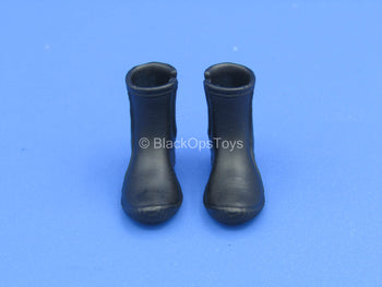 1/12 - Custom - Black Diving Boots (Peg Type)