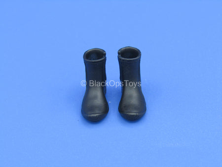 1/12 - Custom - Female Black Diving Boots (Peg Type)