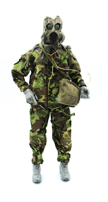 USMC In The Persian Gulf War - Woodland Mopp Suit w/Gas Mask Set