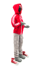 Red Hooded Jacket w/Force 10 Pants w/Converse Shoes & Mask