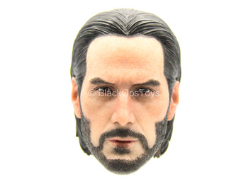 John Wick - Male Head Sculpt w/Slicked Back Hair - MINT IN BOX