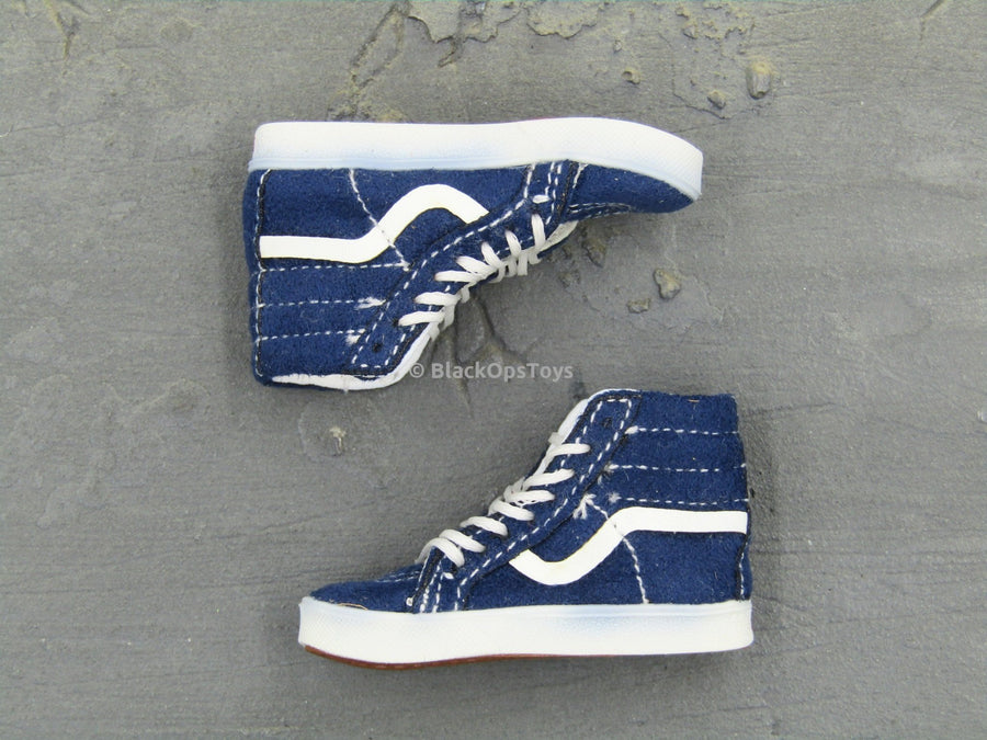 1ab5c5eb31 Vans Old Skool Hi-Top Blue SK8 Shoes Mint In Box – BlackOpsToys
